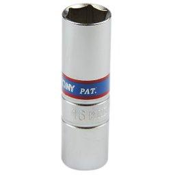 Soquete Longo para Vela com Encaixe de 1/2 Pol. - 16 mm