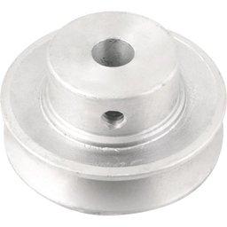 Polia de alumínio 1 canal, perfil A, 70 mm com furo de 1/2 Pol. - 12,7 mm