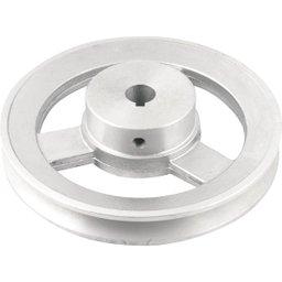 Polia de Alumínio 1 Canal Perfil a 150 mm com Furo de 5/8 Pol. - 15,9 mm