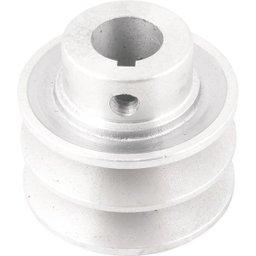 Polia de alumínio 2 canais, perfil A, 60 mm com furo de 3/4 Pol. - 19,1 mm