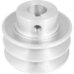 Polia de Alumínio 2 Canais Perfil a 70 mm com Furo de 19 mm