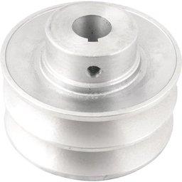 Polia de Alumínio 2 Canais Perfil B 90 mm com Furo de 3/4 Pol. - 19,1 mm