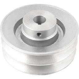 Polia de Alumínio 2 Canais Perfil B 120 mm com Furo de 3/4 Pol. - 19,1 mm