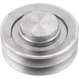 Polia de Alumínio 2 Canais B - 130 mm
