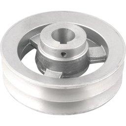 Polia de Alumínio 2 Canais Perfil B 150 mm com Furo de 28 mm