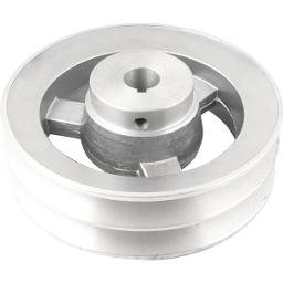 Polia de Alumínio 2 Canais Perfil B 150 mm com Furo de 3/4 Pol. - 19,1 mm