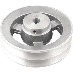 Polia de Alumínio 2 Canais Perfil B 150 mm com Furo de 5/8 Pol. - 15,9 mm