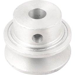Polia de alumínio 1 canal, perfil A, 50 mm com furo de 1/2 Pol. - 12,7 mm