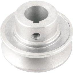 Polia de alumínio 1 canal, perfil A, 60 mm com furo de 3/4 Pol. - 19,1 mm