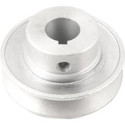Polia de alumínio 1 canal, perfil A, 70 mm com furo de 3/4 Pol. - 19,1 mm