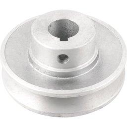 Polia de Alumínio 1 Canal Perfil a 80 mm com Furo de 19 mm