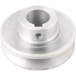 Polia de Alumínio 1 Canal Perfil a 80 mm com Furo de 24 mm