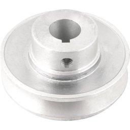 Polia de Alumínio 1 Canal Perfil a 80 mm com Furo de 3/4 Pol. - 19,1 mm