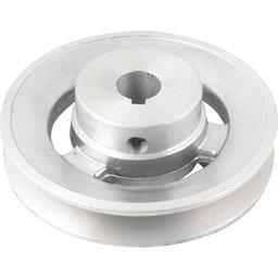 Polia de Alumínio 1 Canal Perfil a 100 mm com Furo de 5/8 Pol. - 15,9 mm