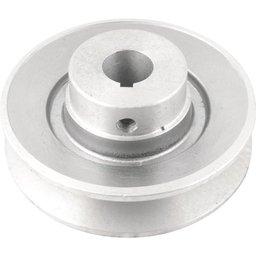 Polia de Alumínio 1 Canal Perfil B 100 mm com Furo de 3/4 - 19,1 mm