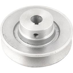 Polia de Alumínio 1 Canal Perfil B 100 mm com Furo de 5/8 Pol.- 15,9 mm