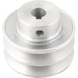 Polia de Alumínio 2 Canais Perfil a 70 mm com Furo de 14 mm