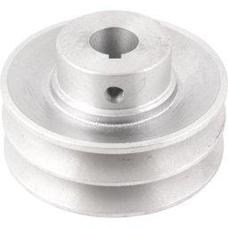 Polia de Alumínio 2 Canais Perfil a 90 mm com Furo de 3/4 Pol. - 19,1 mm