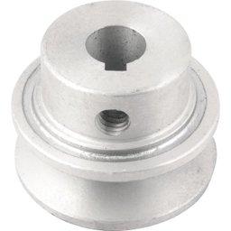 Polia de alumínio 1 canal, perfil A, 50 mm com furo de 14 mm