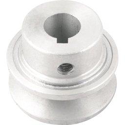 Polia de alumínio 1 canal, perfil A, 50 mm com furo de 5/8 Pol. - 15,9 mm