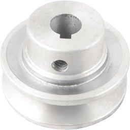 Polia de alumínio 1 canal, perfil A, 60 mm com furo de 14 mm