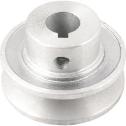 Polia de alumínio 1 canal, perfil A, 60 mm com furo de 5/8 Pol. - 15,9 mm