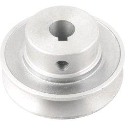 Polia de alumínio 1 canal, perfil A, 70 mm com furo de 14 mm