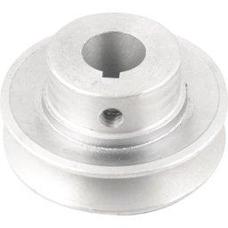 Polia de alumínio 1 canal, perfil A, 70 mm com furo de 19 mm