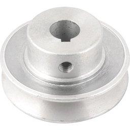 Polia de alumínio 1 canal, perfil A, 70 mm com furo de 5/8 Pol. - 15,9 mm