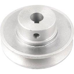 Polia de Alumínio 1 Canal Perfil a 80 mm com Furo de 14 mm