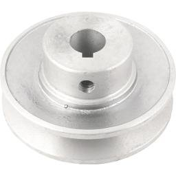 Polia de Alumínio 1 Canal Perfil a 80 mm com Furo de 5/8 Pol. - 15,9 mm