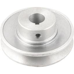 Polia de Alumínio 1 Canal Perfil a 90 mm com Furo de 3/4 Pol. - 19,1 mm