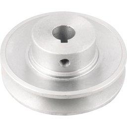 Polia de Alumínio 1 Canal Perfil a 90 mm com Furo de 5/8 Pol. - 15,9 mm
