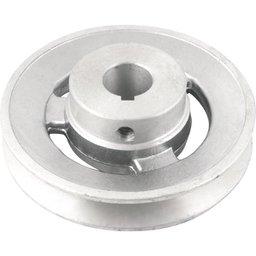 Polia de Alumínio 1 Canal Perfil a 100 mm com Furo de 19 mm