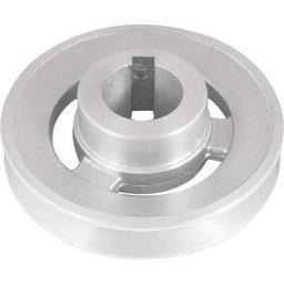 Polia de Alumínio 1 Canal Perfil a 100 mm com Furo de 28 mm