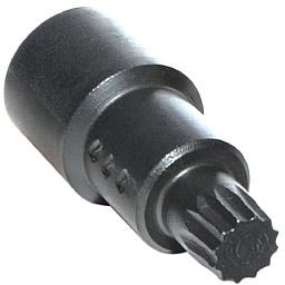 Chave soquete Multidentada 12mm com Guia para Sacar a Porca Interna do Injetor Bosch - Euro 5