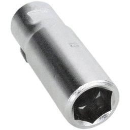 Ferramenta tipo Soquete 19mm Vazada Longa 80mm com Encaixe 1/2 Pol.