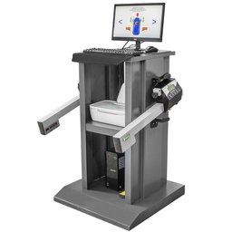 Alinhador de Direção Digital a Laser Dianteiro com 2 Cabeças e Rack Cinza