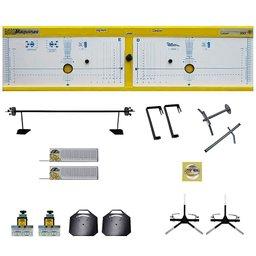 Alinhador de Direção Amarelo Dianteiro e Traseiro para Rampa