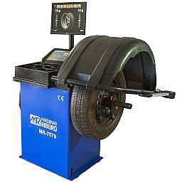 Balanceadora de Rodas Motorizada Azul com Monitor LCD 220V