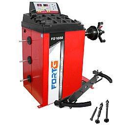 Kit Balanceadora Mono 220V Manual FortGPro FG1000 + Adaptador Rodas de Motos