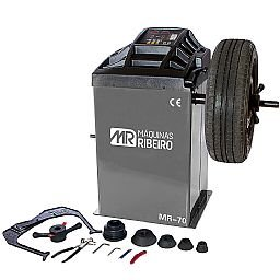 Balanceadora Motorizada de Rodas Cinza para Aros 10 a 24 Pol.  Monofásica