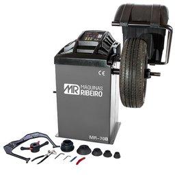Balanceadora Motorizada de Rodas com Capô para Aros 10 a 24 Pol. 220V Mono