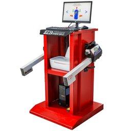 Alinhador de Direção Digital a Laser Dianteiro com 2 Cabeças e Rack Vermelho