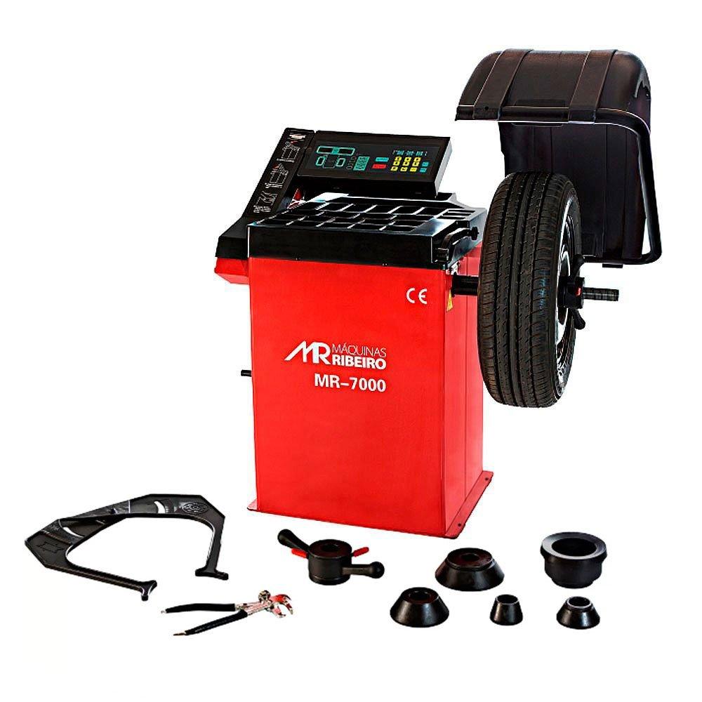 Balanceadora de Rodas Motorizada Vermelho  Monofásica