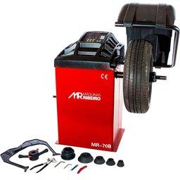 Balanceadora Motorizada Vermelha com Capo de Proteção 10 a 24 Pol. Mono