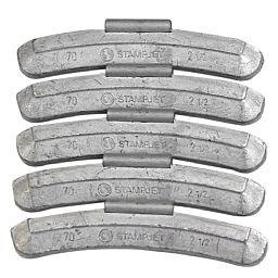 Contrapeso de 70 Gramas Universal para Rodas de Aço com 25 Peças