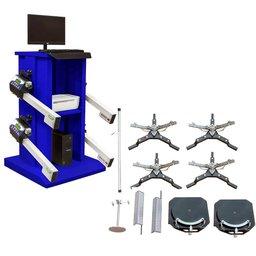 Alinhador de Direção Digital Wi-Fi à Laser Automotivo Dianteiro e Traseiro com Rack Azul