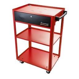 Rack Móvel Aberto para Computador Vermelho