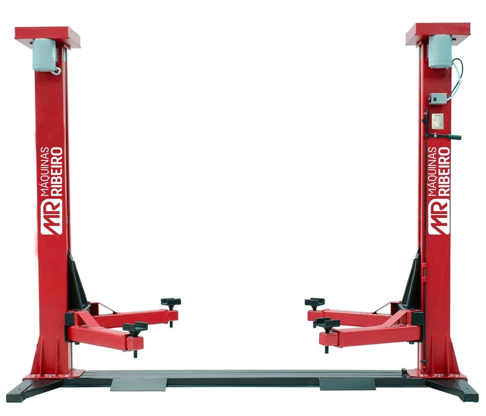 Elevador Automotivo Trifásico Vermelho para 4000Kg